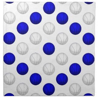 Blue and White Basketball Pattern Cloth Napkin