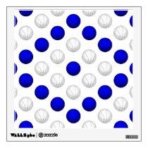 Blue and White Basketball Pattern Wall Sticker
