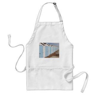 Blue and White Beach Huts Standard Apron