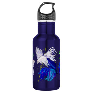 Blue and White Beta 18oz Water Bottle