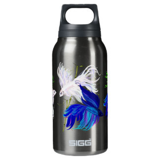 Blue and White Beta Thermos Bottle