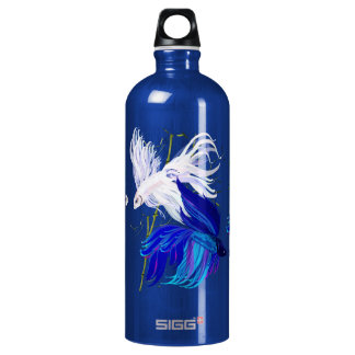 Blue and White Beta Water Bottle