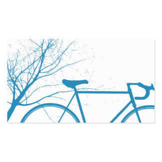 Blue and white bicycle Business Card