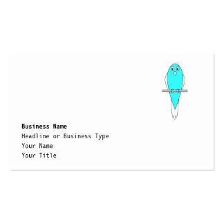 Blue and White Bird. Budgie. Business Card