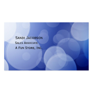 Blue and White Bubbles Business Card Template