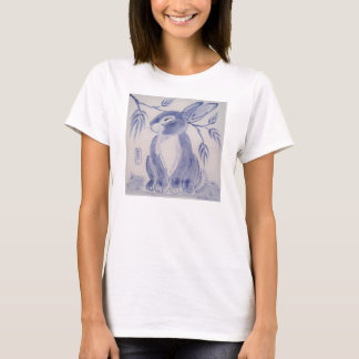Blue and White Bunny T Shirt  - SO Sweet!