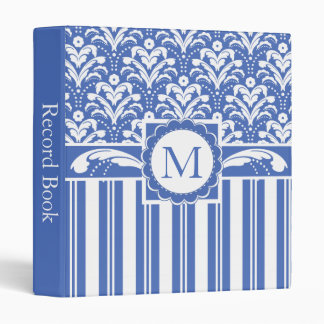 Blue and White Business Accounts Record Book Binder