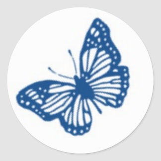 Blue and White Butterfly Sticker © 2012 M. Martz
