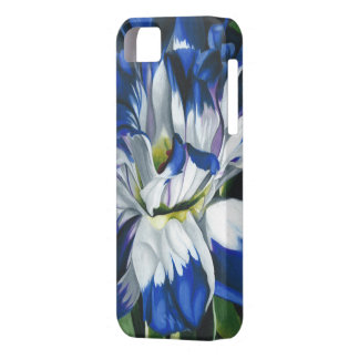 """Blue and White"" by Jenny Koch iPhone SE/5/5s Case"