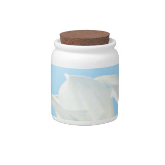 Blue and white candy jar Anti Stress home decor