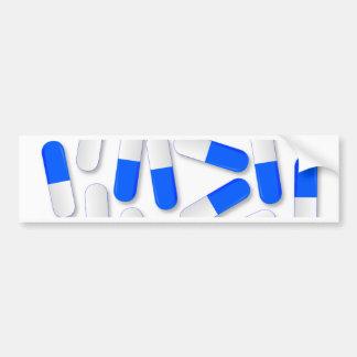 Blue And White Capsules Bumper Sticker