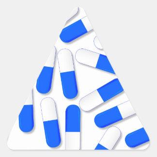 Blue And White Capsules Triangle Sticker