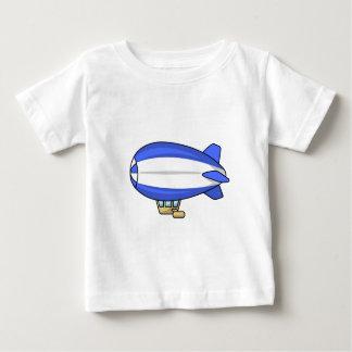 Blue and White Cartoon Blimp Shirt