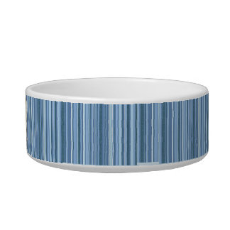 Blue and White Ceramic Dog Bowl with Shih Tzu
