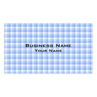 Blue and White Check Pattern. Business Card