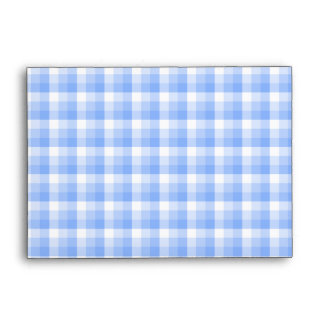 Blue and White Check Pattern. Envelope