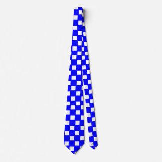 Blue and White Checkerboard Tie