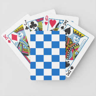 Blue and White Checkerboards Bicycle Playing Cards