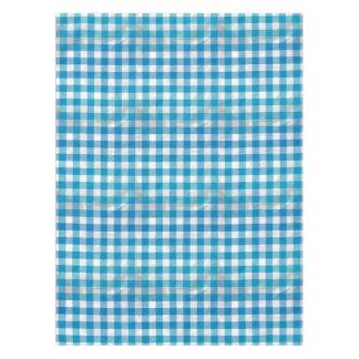 Blue And White Checkered Buffalo Plaid Tablecloth
