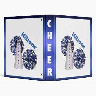Blue and white Cheerleader Binder