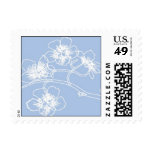 Blue and White cherry blossoms Stamp