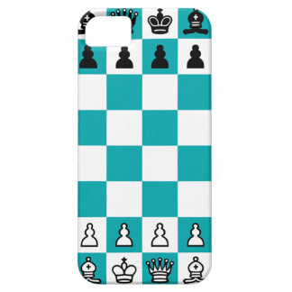 Blue and White Chessboard Phone Case iPhone 5 Cover
