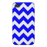 Blue and White Chevron Covers For iPhone 4