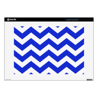 "Blue And White Chevron Stripes Decals For 15"" Laptops"