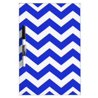 Blue And White Chevron Stripes Dry Erase Board