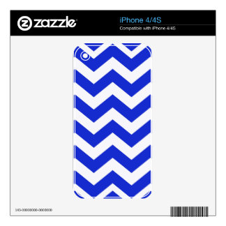 Blue And White Chevron Stripes Skins For iPhone 4S
