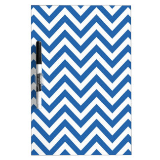 Blue and White Chevron zigzag Pattern Dry-Erase Whiteboards