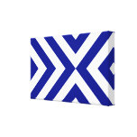 Blue and White Chevrons Gallery Wrap Canvas