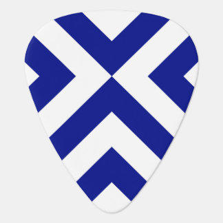 Blue and White Chevrons Guitar Pick