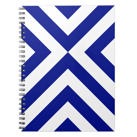Blue and White Chevrons Notebook