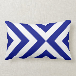 Blue and White Chevrons Pillow