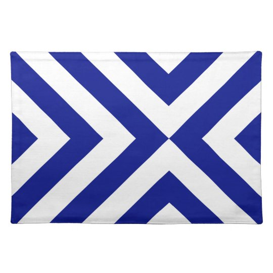 Blue and White Chevrons Placemat