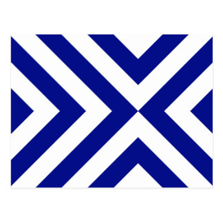 Blue and White Chevrons Postcard
