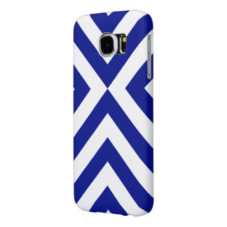 Blue and White Chevrons Samsung Galaxy S6 Case