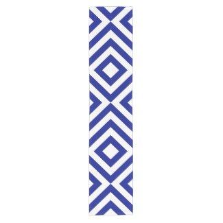 Blue and White Chevrons Short Table Runner