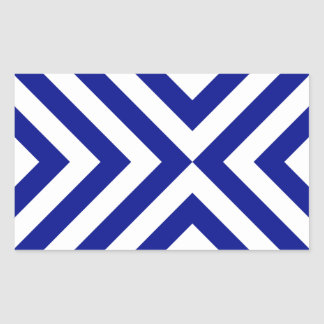 Blue and White Chevrons Stickers
