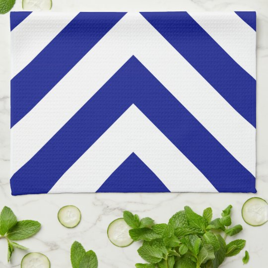 Blue and White Chevrons Towel