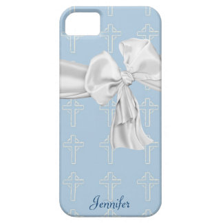 Blue and White Christian iPhone 5 Case