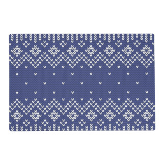 Knitted Pattern Placemats Zazzle