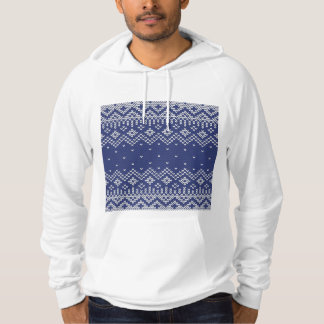 Blue and White Christmas Abstract Knitted Pattern Sweatshirt