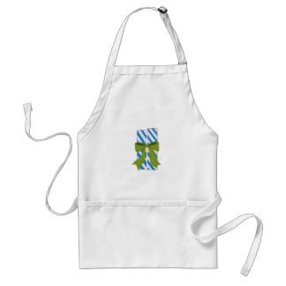Blue and White Christmas Candy Adult Apron