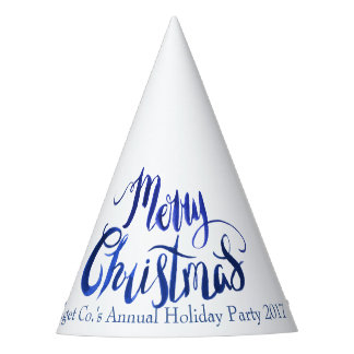 Blue and White Christmas Custom Party Hats