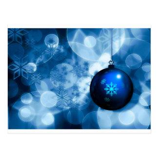 Blue and White Christmas Postcard