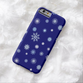 Blue and White Christmas Winter Snowflakes Barely There iPhone 6 Case