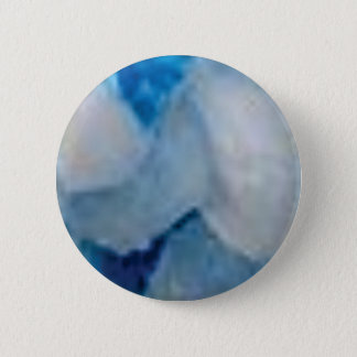 blue and white chunks pinback button
