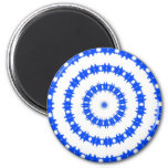 Blue And White Circle Pattern Magnet